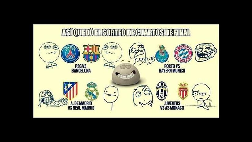 Champions league: Memes del sorteo de cuartos de final