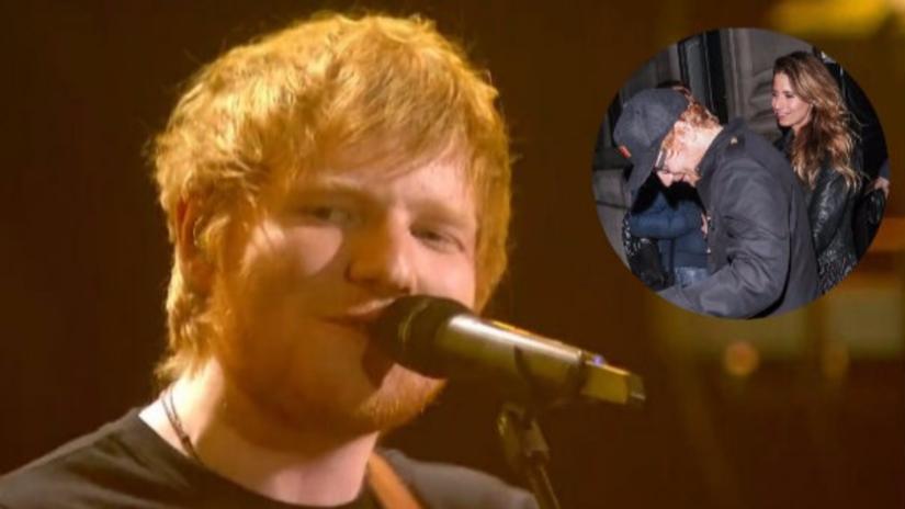 Ed Sheeran sale de una fiesta en medias pero no es lo que piensas