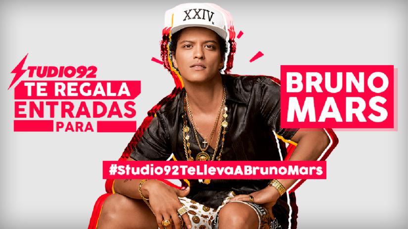 Bruno Mars: Studio92 te regala las últimas entradas al concierto
