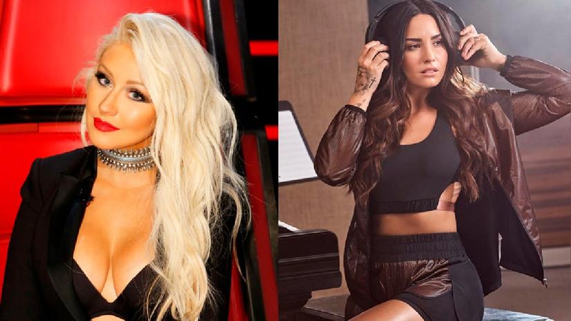 Christina Aguilera habría confirmado colaboración con Demi Lovato