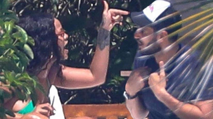 Rihanna es captada en intensa pelea con su novio