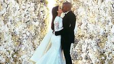 2- Kim Kardashian en 2014  Kim obtuvo la corona al año siguiente al subir una foto de su boda con Kayne West rodeados de flores. Obtuvo poco más de 2 m de likes.