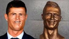 Memes se burlan del busto de Cristiano Ronaldo