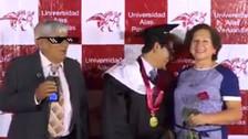 Viral: Padre trollea a su hijo durante su graduación