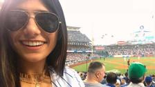 Twitter   Mia Khalifa expulsada durante partido de beisbol
