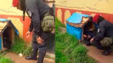 Facebook: Le quitó la casa al perro para dormir (video)