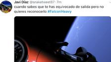 Mandaron un auto al espacio y estas fueron las reacciones en redes sociales