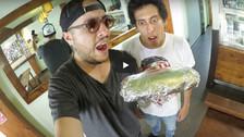 Youtuber: El Cholo Mena intentó terminar un burrito gigante y este fue el resultado.