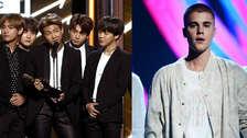 BTS rompe récord de Justin Bieber en Billboard y las redes sociales lo celebran
